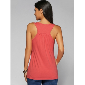 Scoop Neck Fitting Letter Print Tank Top -
