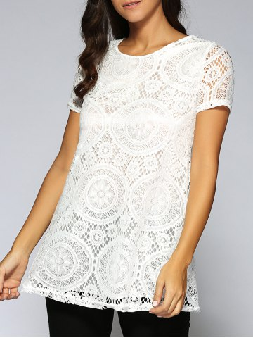 Fancy Lace Openwork Tee