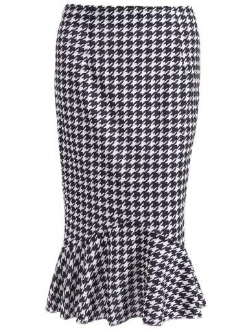 Discount Houndstooth Mermaid Skirt