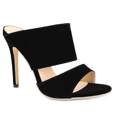 Fancy Sexy High Heels and Black Design Pumps For Women - 40 BLACK Mobile