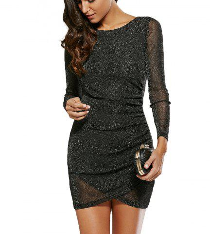 Affordable Sequined See-Through Skinny Dress