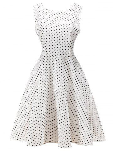 New Retro High Waist  Dot Dress