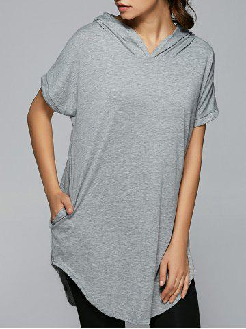 Outfit Loose Hooded Long T-Shirt