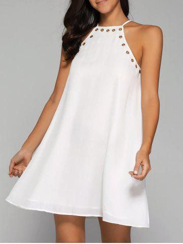 Fashion Hollow Out Flare Dress
