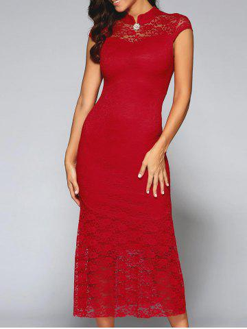 Affordable Cut Out Lace Prom Dress
