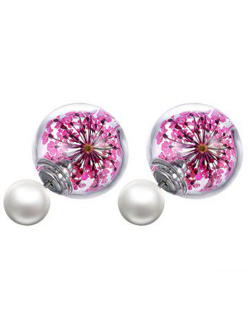 Best Faux Pearl Dry Sakura Glass Earrings