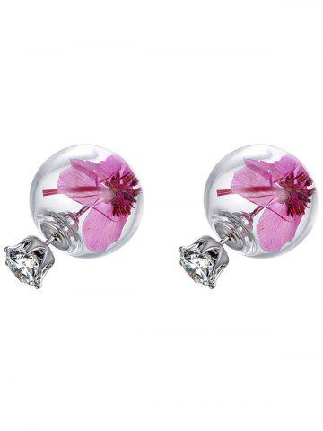 Shops Rhinestone Dry Flower Glass Ball Earrings