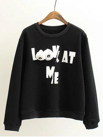Fancy Plus Size Letter Print Sweatshirt