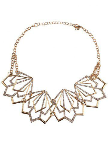Online Rhinestone Alloy Geometric Necklace and Earrings - GOLDEN  Mobile