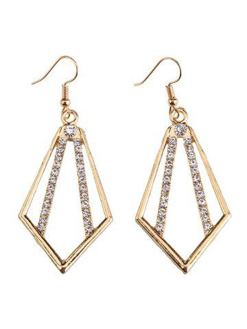 Discount Rhinestone Alloy Geometric Necklace and Earrings - GOLDEN  Mobile