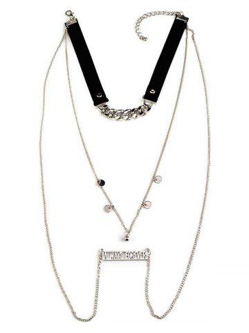 Shops Sequins Always Forever Letters Chain Necklace