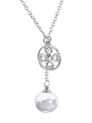 Buy Glass Ball Heart Round Pendant Necklace