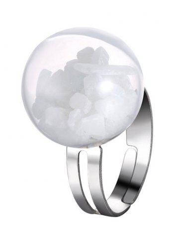 Latest Glass Ball Stone Cuff Ring