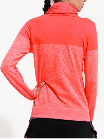 Outfits Quick Dry Drawstring Sports Running T-Shirts - L ORANGE RED Mobile