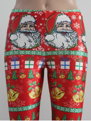 Shop Tight Fit Christmas Leggings - M RED Mobile