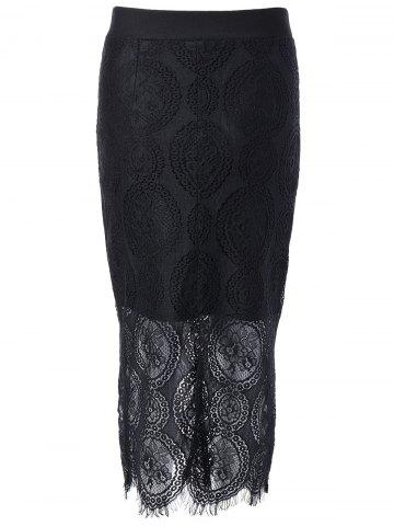 Trendy Bodycon Lace Skirt