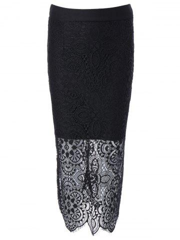 Shop Bodycon Lace Spliced Skirt
