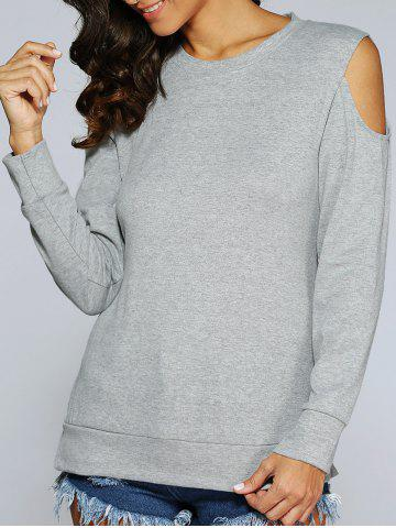 Affordable Long Sleeve Cold Shoulder Pullover Sweatshirt