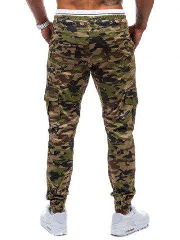 Best Multi-Pockets Camo Print Army Jogger Pants - M GREEN Mobile