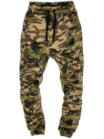 Latest Multi-Pockets Camo Print Army Jogger Pants - M GREEN Mobile