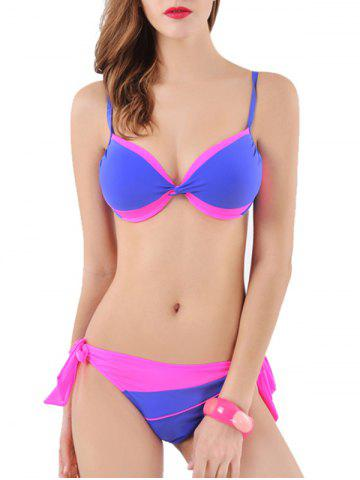 Shops Spaghetti Straps Two-Toned Bowknot Bikini Set