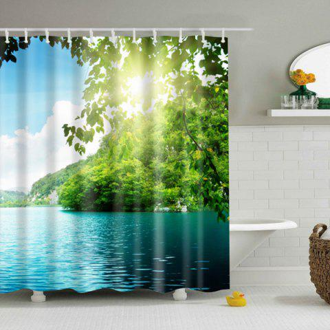 Unique Nature Scenery Printed Waterproof Mouldproof Shower Curtain