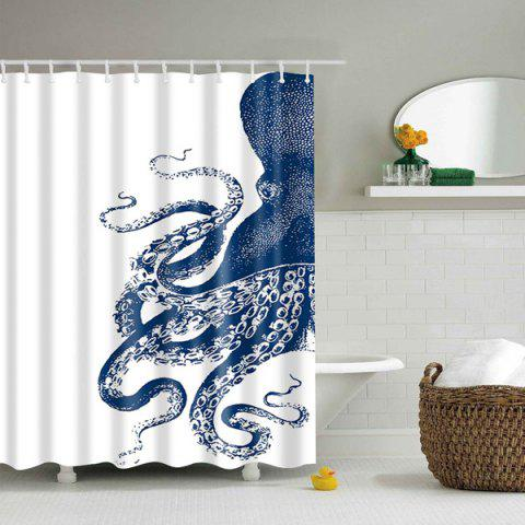 Shops Waterproof Mouldproof Octopus Printed Shower Curtain