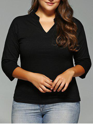 Unique Plus Size V-Neck Tee