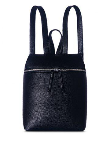 Buy Textured PU Leather Zip Backpack