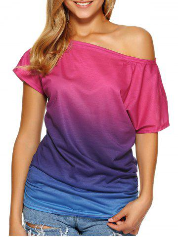 Fashion Short Sleeve Ombre Tee