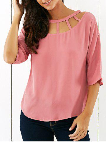 Affordable Hollow Out Blouse