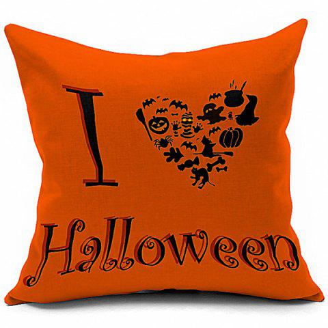 Affordable Hot Sale Halloween Series Heart Shaped Printed Pillow Case