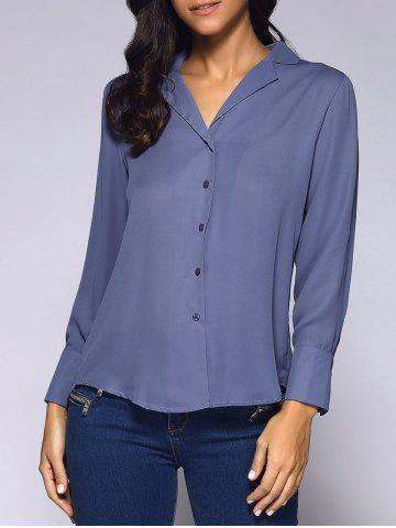 Shop Notched Collar Long Sleeve Shirt