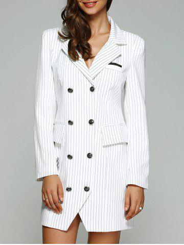 Store Double Breasted Striped Trench Coat