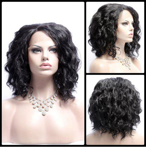 Online Medium Fluffy Wavy Side Bang Lace Front Synthetic Wig