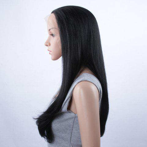 Shop Long Natural Straight Lace Front Synthetic Wig - JET BLACK  Mobile