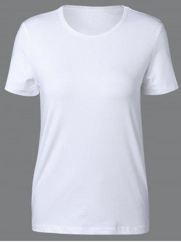 Hot Casual Round Neck Short Sleeve Solid Color Tee