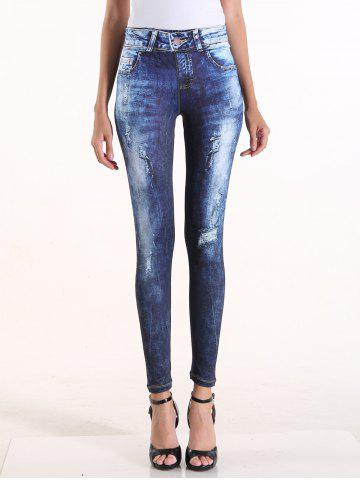 Shop Faux Ripped Denim High Waisted Pants