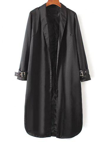 Fancy Embroidered Trench Coat BLACK L