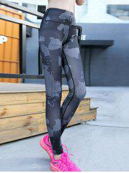 Print High Waisted Yoga Leggings -
