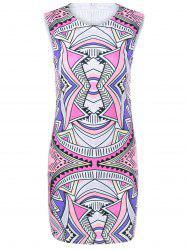 Tribe Print Sleeveless Skinny Dress -