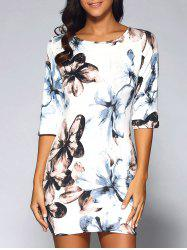 Floral Fitted Mini Dress -