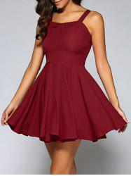 Cami String Fitting Pleated Dress -