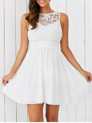 Open Back Embroidery Lace Dress -