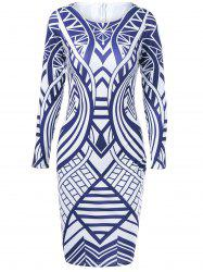 Geometrical Skinny Dress -
