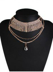Rhinestone Water Drop Wedding Jewelry Necklace