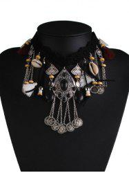 Alloy Shell Tassel Floral Geometric Necklace