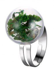 Glass Ball Dry Plant Cuff Ring