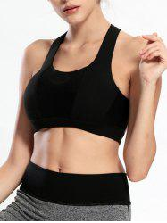 Criss Cross Backless Padded Push Up Sporty Bra -