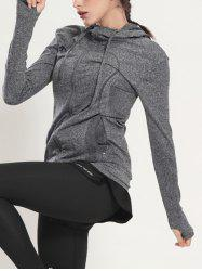 Quick Dry Hooded Sporty Coat - GRAY